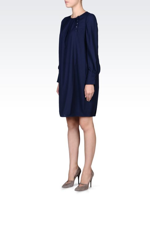LONG-SLEEVED CRÊPE DRESS: Long-sleeved dresses Women by Armani - 2