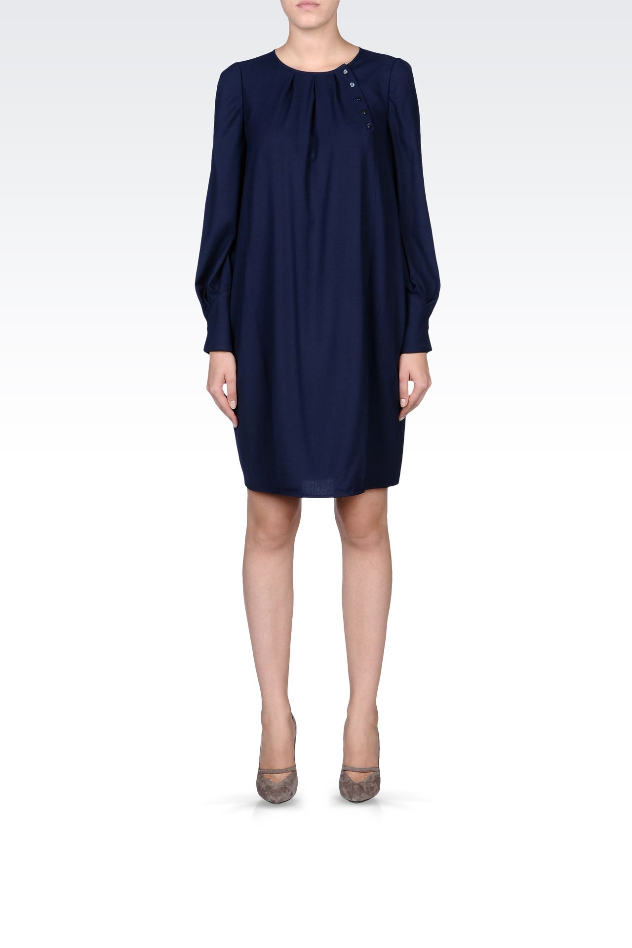 LONG-SLEEVED CRÊPE DRESS: Long-sleeved dresses Women by Armani - 0