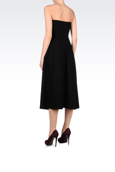 SIXTIES STYLE DRESS IN BOILED WOOL: Strapless dresses Women by Armani - 3