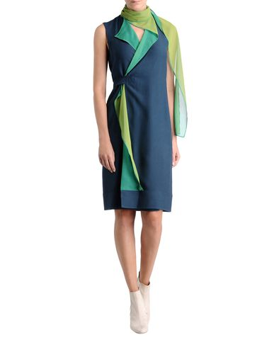 Two Tone Reversible Wrap Dress