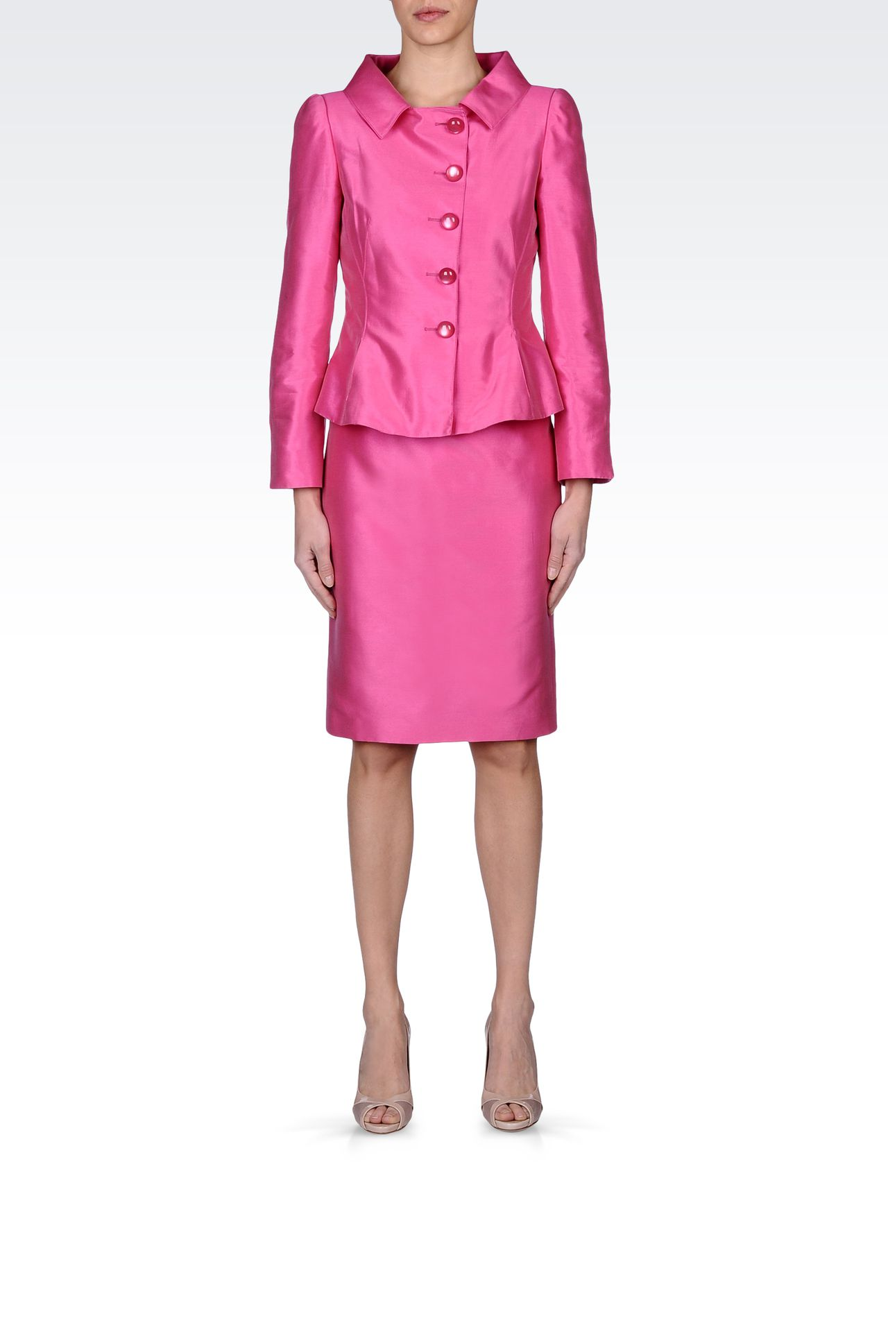 Armani Collezioni Women SUIT IN COTTON AND SILK - Armani.com