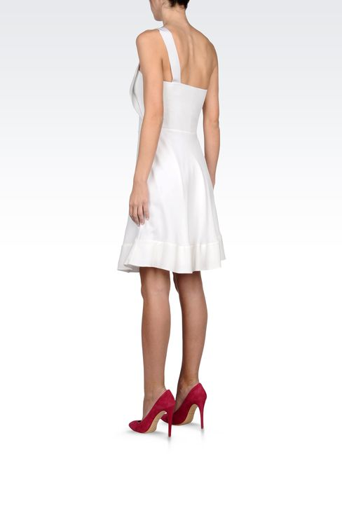 ONE SHOULDER DRESS IN GEORGETTE SILK: One-shoulder dresses Women by Armani - 3