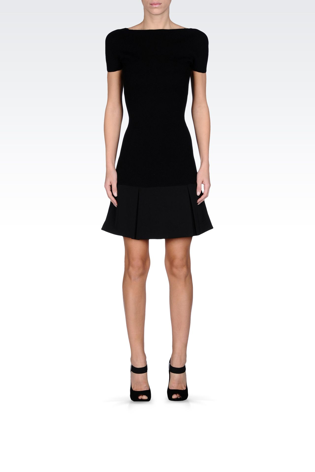 CORDUROY MINI DRESS: Short Dresses Women by Armani - 0