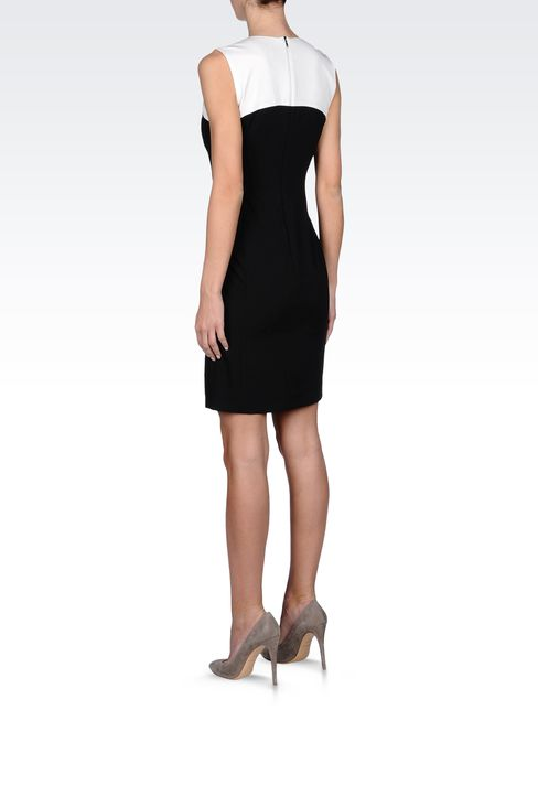 SHEATH DRESS IN TWO-COLOR GABARDINE: Short Dresses Women by Armani - 3