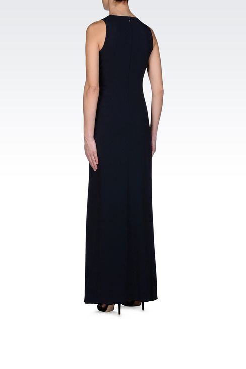 LONG DRESS WITH TWIST DETAIL AT THE WAIST: Long dresses Women by Armani - 3