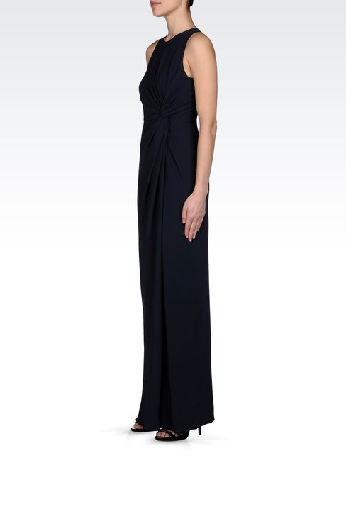 LONG DRESS WITH TWIST DETAIL AT THE WAIST: Long dresses Women by Armani - 2