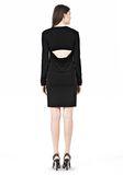 T by ALEXANDER WANG MATTE JERSEY LONG SLEEVE DRESS WITH OPEN BACK Short Dress Adult 8_n_r