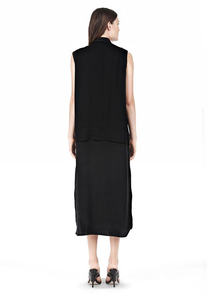 SILK CHFFON OVER CDC SHIRT DRESS