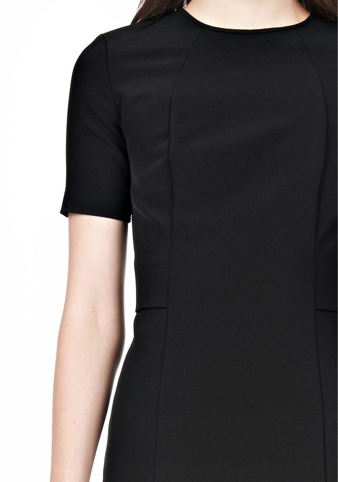 T by ALEXANDER WANG TECH SUITING FITTED DRESS Short Dress Adult 12_n_a