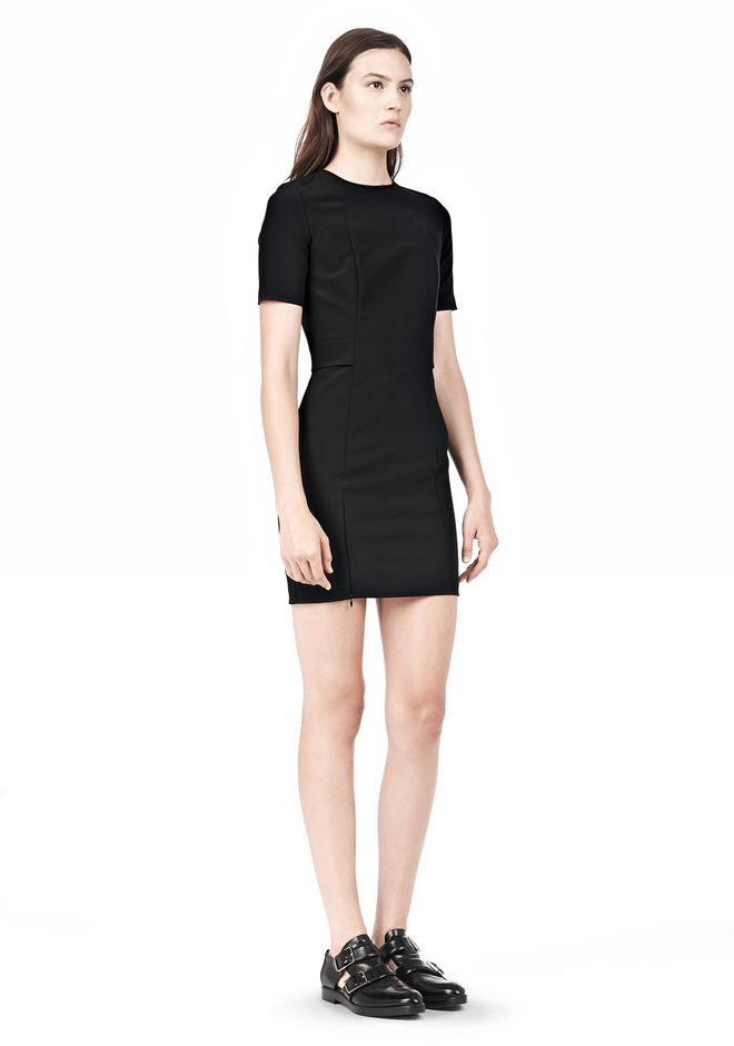 T by ALEXANDER WANG TECH SUITING FITTED DRESS Short Dress Adult 12_n_e