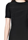 T by ALEXANDER WANG TECH SUITING FITTED DRESS Short Dress Adult 8_n_a