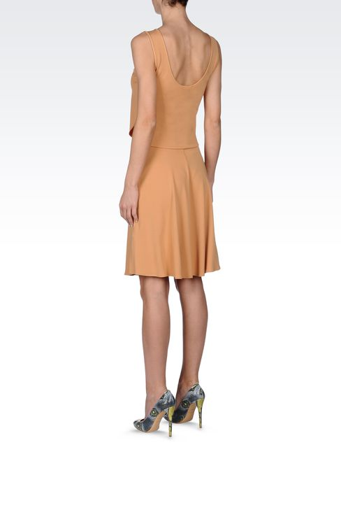 JERSEY DRESS WITH LOW BACK: Short Dresses Women by Armani - 3