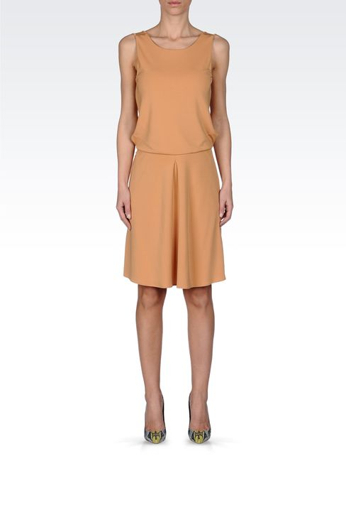 JERSEY DRESS WITH LOW BACK: Short Dresses Women by Armani - 1