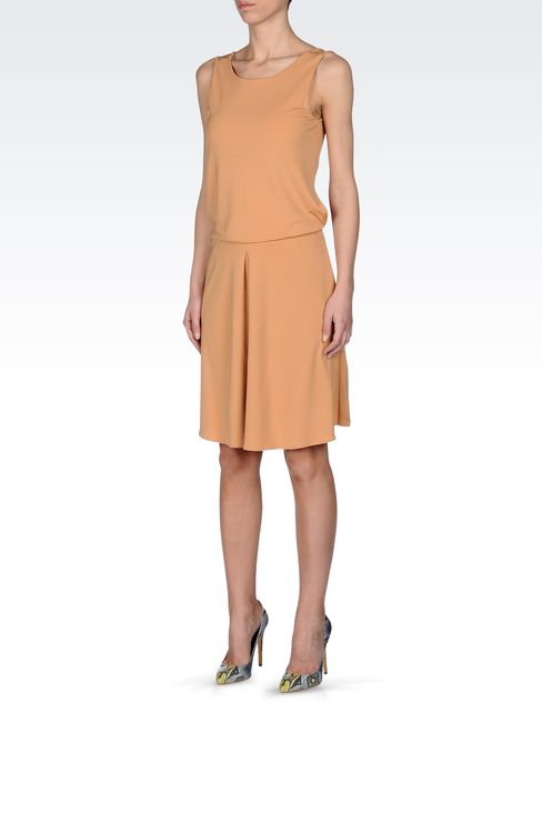 JERSEY DRESS WITH LOW BACK: Short Dresses Women by Armani - 2