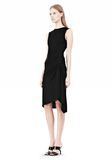 ALEXANDER WANG TWISTED DRAPE FRONT SLEEVLESS DRESS Short Dress Adult 8_n_e