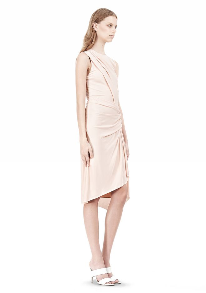 ALEXANDER WANG TWISTED DRAPE FRONT SLEEVLESS DRESS Short Dress Adult 12_n_e
