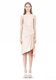 ALEXANDER WANG TWISTED DRAPE FRONT SLEEVLESS DRESS Short Dress Adult 8_n_f