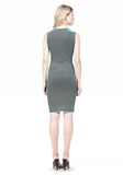 ALEXANDER WANG OPTICAL STRIPE FITTED DRESS KNIT DRESS Adult 8_n_r