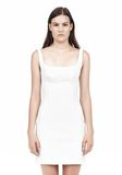 T by ALEXANDER WANG DOUBLE FACE STRETCH COTTON SQUARE NECK DRESS Short Dress Adult 8_n_e