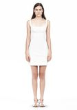 T by ALEXANDER WANG DOUBLE FACE STRETCH COTTON SQUARE NECK DRESS Short Dress Adult 8_n_f