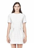 T by ALEXANDER WANG GRID PRINT NEOPRENE SHORT SLEEVE DRESS Short Dress Adult 8_n_d
