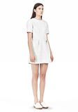 T by ALEXANDER WANG GRID PRINT NEOPRENE SHORT SLEEVE DRESS Short Dress Adult 8_n_e