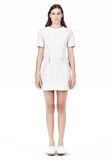 T by ALEXANDER WANG GRID PRINT NEOPRENE SHORT SLEEVE DRESS Short Dress Adult 8_n_f