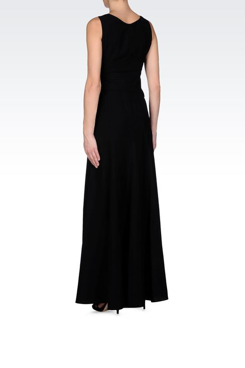 LONG DRAPED DRESS IN CADY: Long dresses Women by Armani - 3