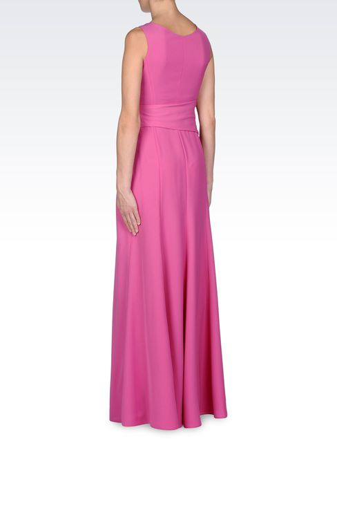 LONG DRAPED DRESS IN CADY: Long dresses Women by Armani - 3