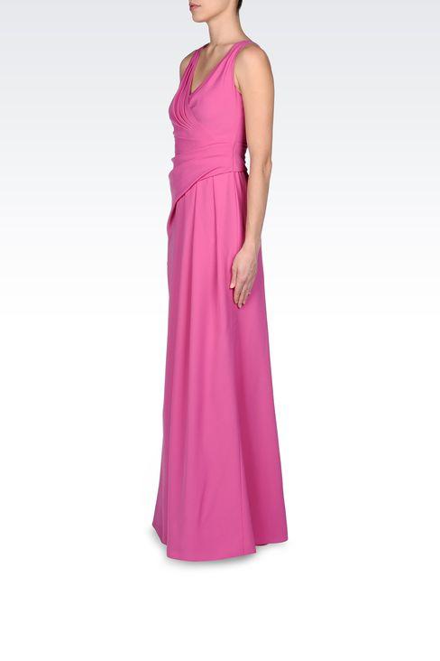LONG DRAPED DRESS IN CADY: Long dresses Women by Armani - 2