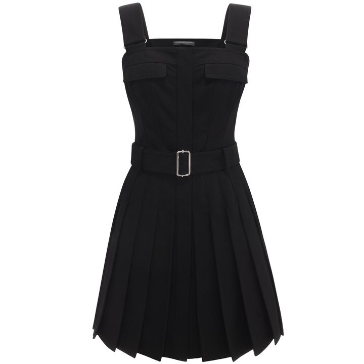 Alexander McQueen, Pleated Utility Mini Dress