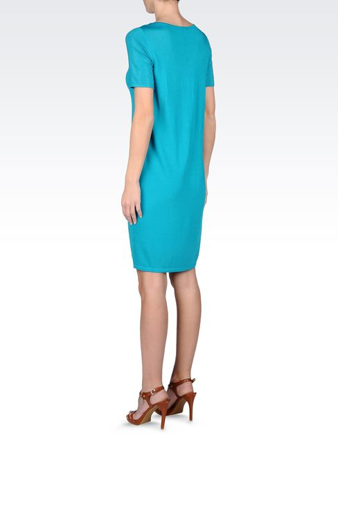 VISCOSE DRESS WITH EMBELLISHED SLEEVES: Short Dresses Women by Armani - 3