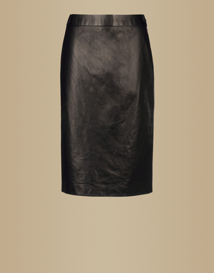 TRUSSARDI - Leather skirt