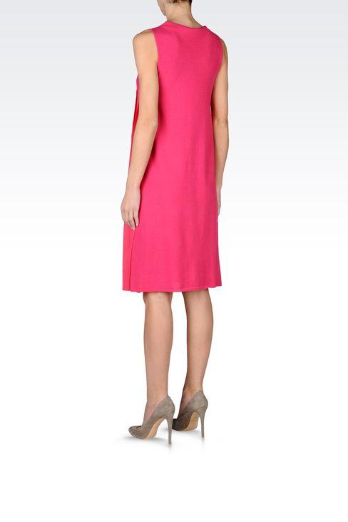 PLEATED DRESS IN CHEVRON COTTON: Short Dresses Women by Armani - 3