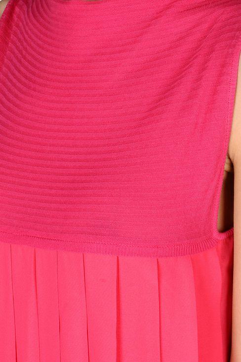 PLEATED DRESS IN CHEVRON COTTON: Short Dresses Women by Armani - 4