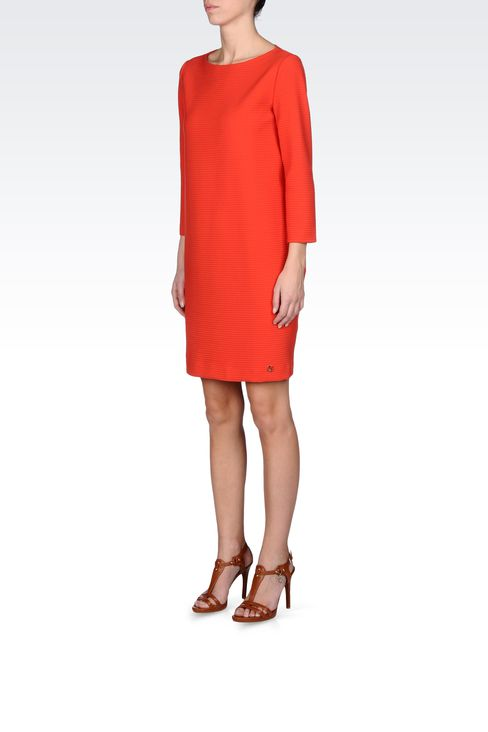 THREE-QUARTER SLEEVE DRESS IN TECHNICAL FABRIC: Short Dresses Women by Armani - 2