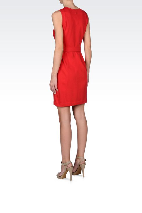 VISCOSE DRESS WITH FINE RIB EFFECT: Jersey dresses Women by Armani - 3