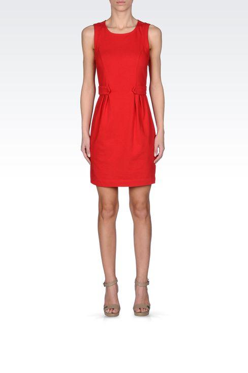 VISCOSE DRESS WITH FINE RIB EFFECT: Jersey dresses Women by Armani - 1