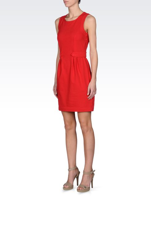 VISCOSE DRESS WITH FINE RIB EFFECT: Jersey dresses Women by Armani - 2