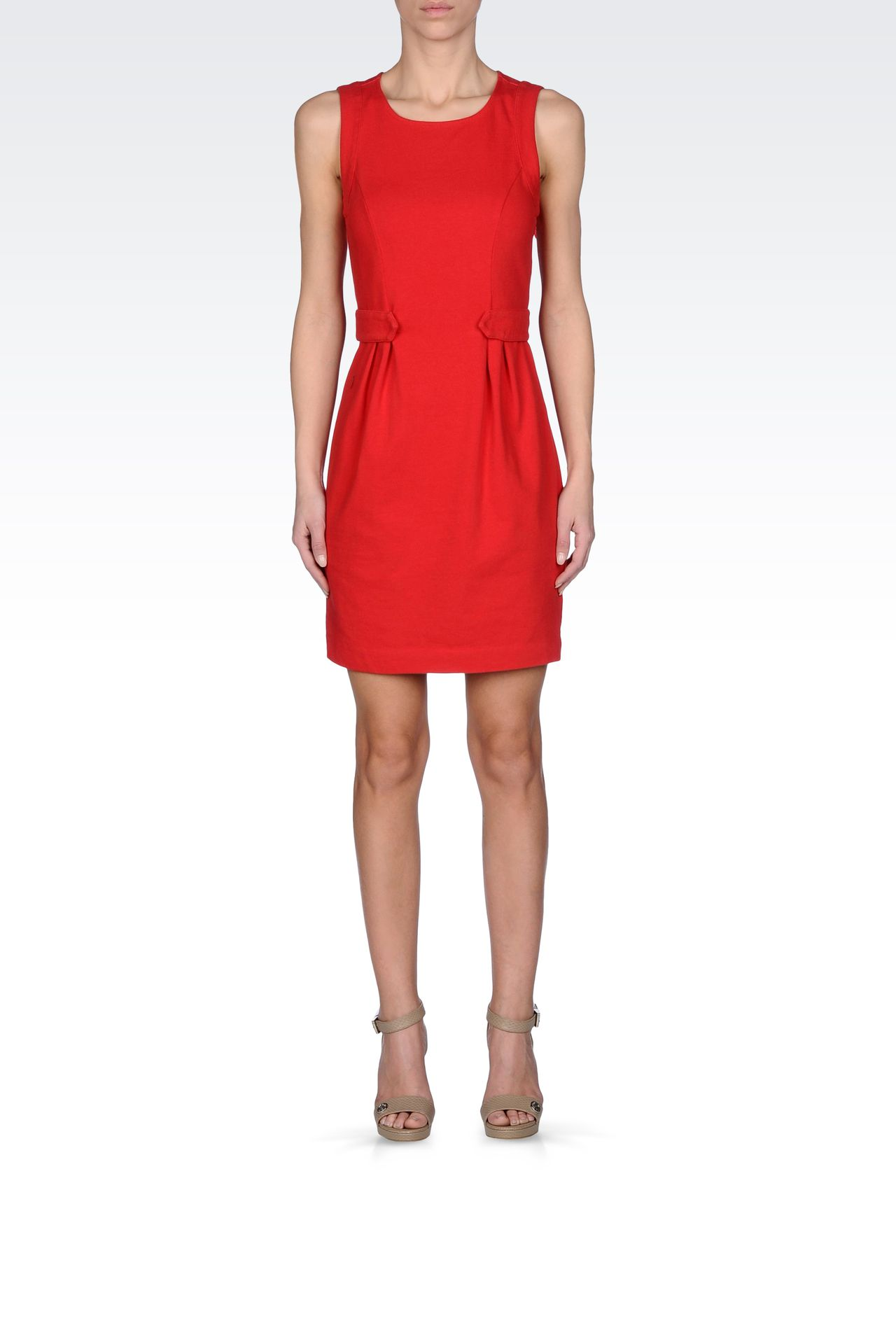 VISCOSE DRESS WITH FINE RIB EFFECT: Jersey dresses Women by Armani - 0