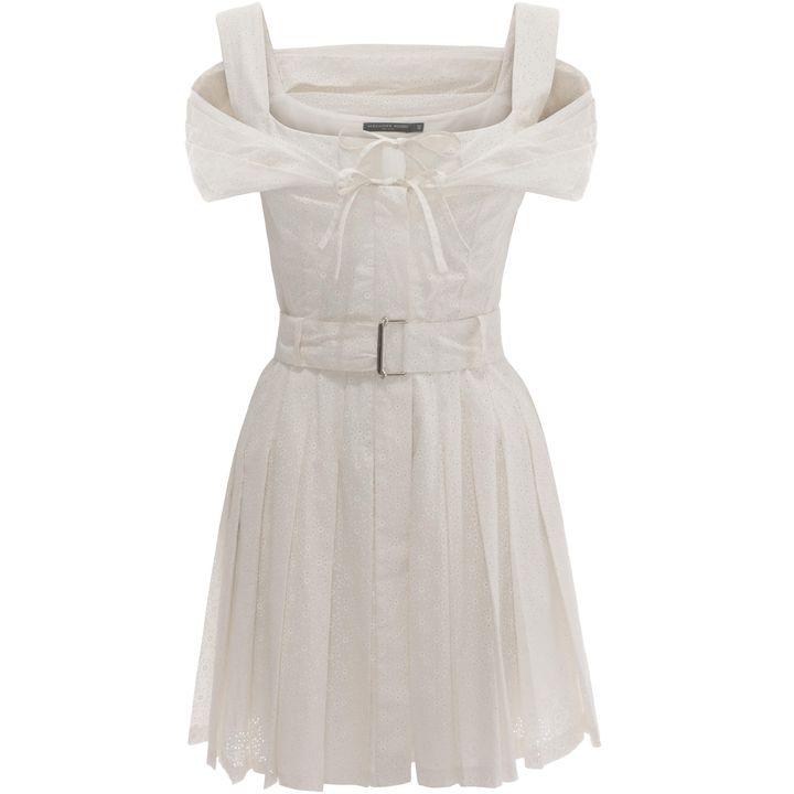 Alexander McQueen, Off-Shoulder Sangallo Mini Dress