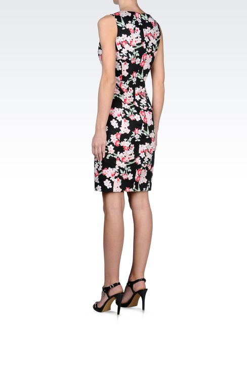COTTON SHEATH DRESS WITH FLORAL PATTERN: Short Dresses Women by Armani - 3