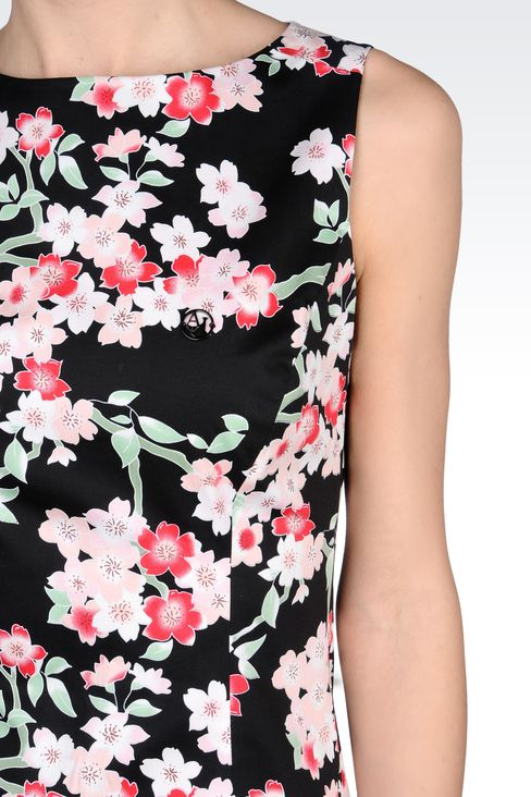 COTTON SHEATH DRESS WITH FLORAL PATTERN: Short Dresses Women by Armani - 4