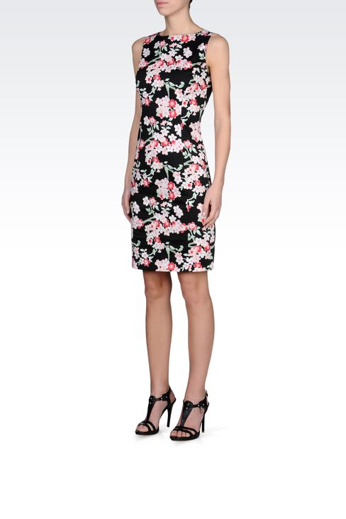 COTTON SHEATH DRESS WITH FLORAL PATTERN: Short Dresses Women by Armani - 2