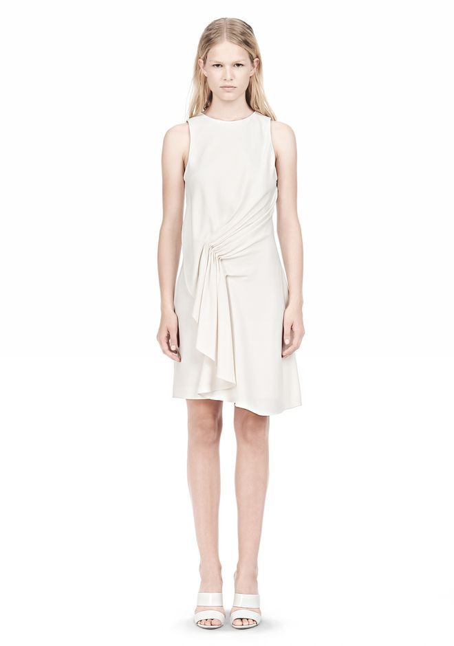 ALEXANDER WANG CASCADE FRONT SLEEVELESS DRESS Short Dress Adult 12_n_f