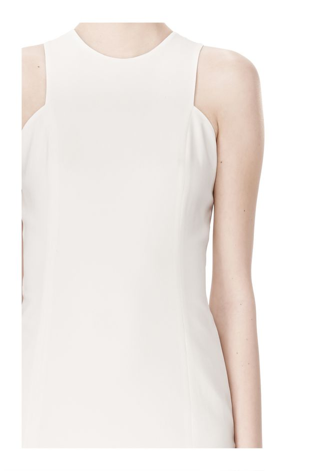 ALEXANDER WANG EXCLUSIVE CROSSOVER BACK SHIFT DRESS Short Dress Adult 12_n_a