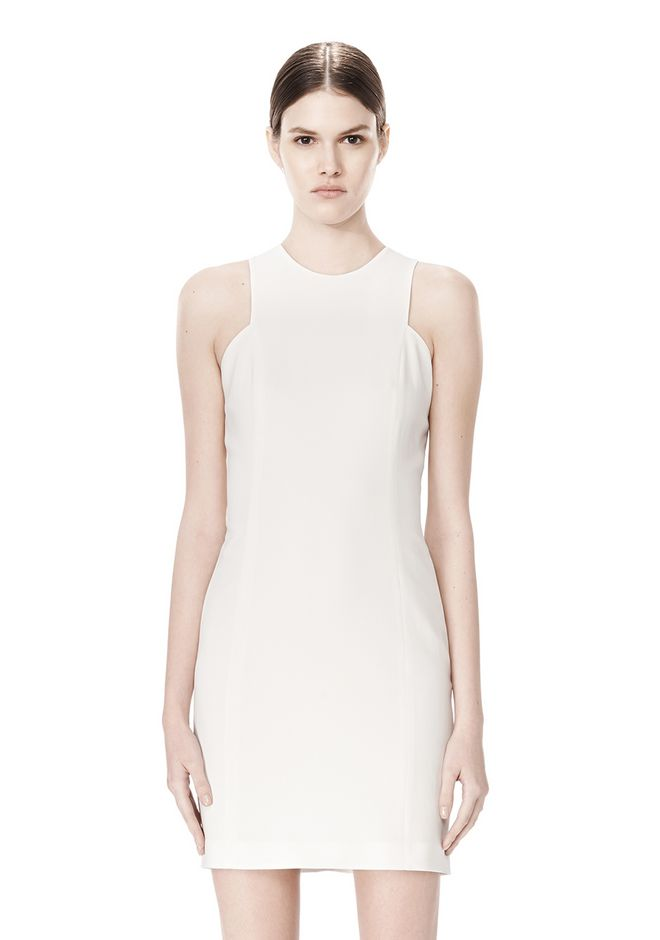 ALEXANDER WANG EXCLUSIVE CROSSOVER BACK SHIFT DRESS Short Dress Adult 12_n_d