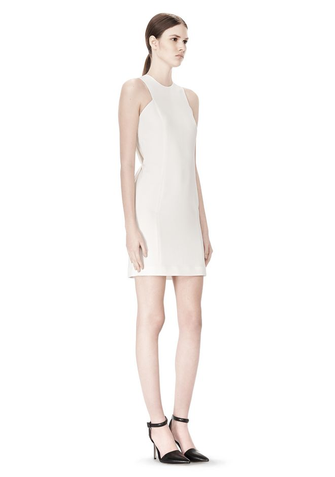 ALEXANDER WANG EXCLUSIVE CROSSOVER BACK SHIFT DRESS Short Dress Adult 12_n_e