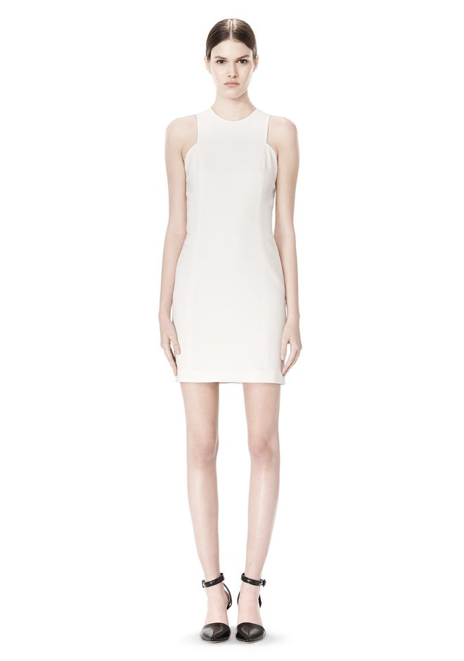 ALEXANDER WANG EXCLUSIVE CROSSOVER BACK SHIFT DRESS Short Dress Adult 12_n_f