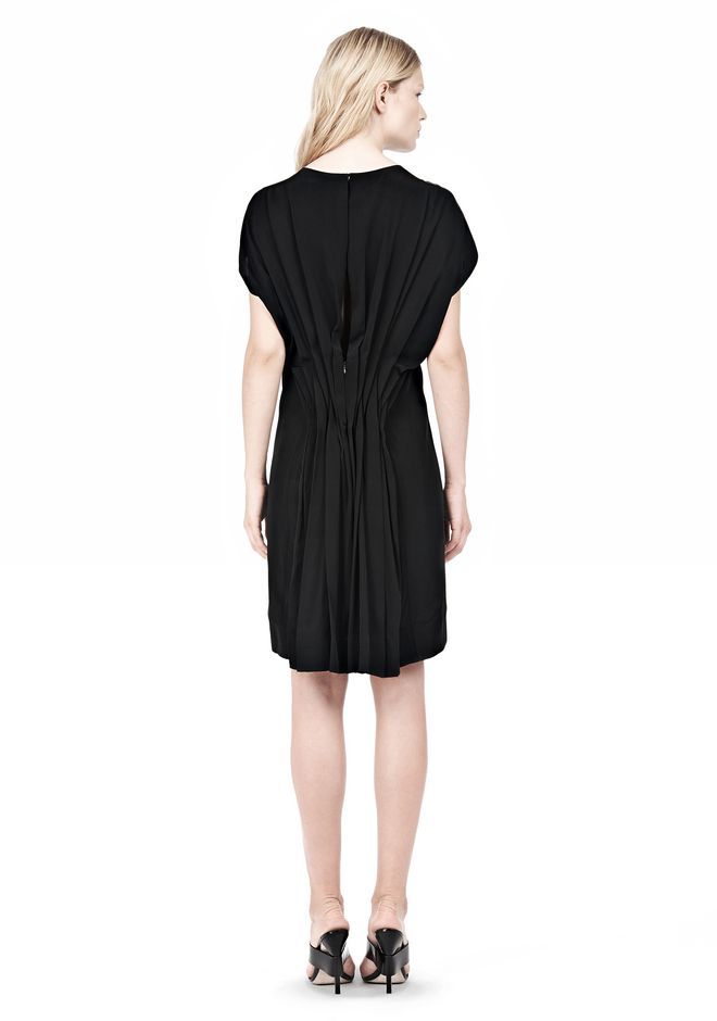 ALEXANDER WANG VACUUM PRESSED IRREGULAR PLEAT BACK DRESS Short Dress Adult 12_n_r